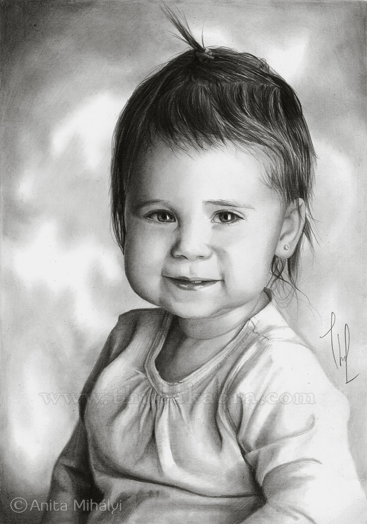 Baby Girl Pencil Portraits
