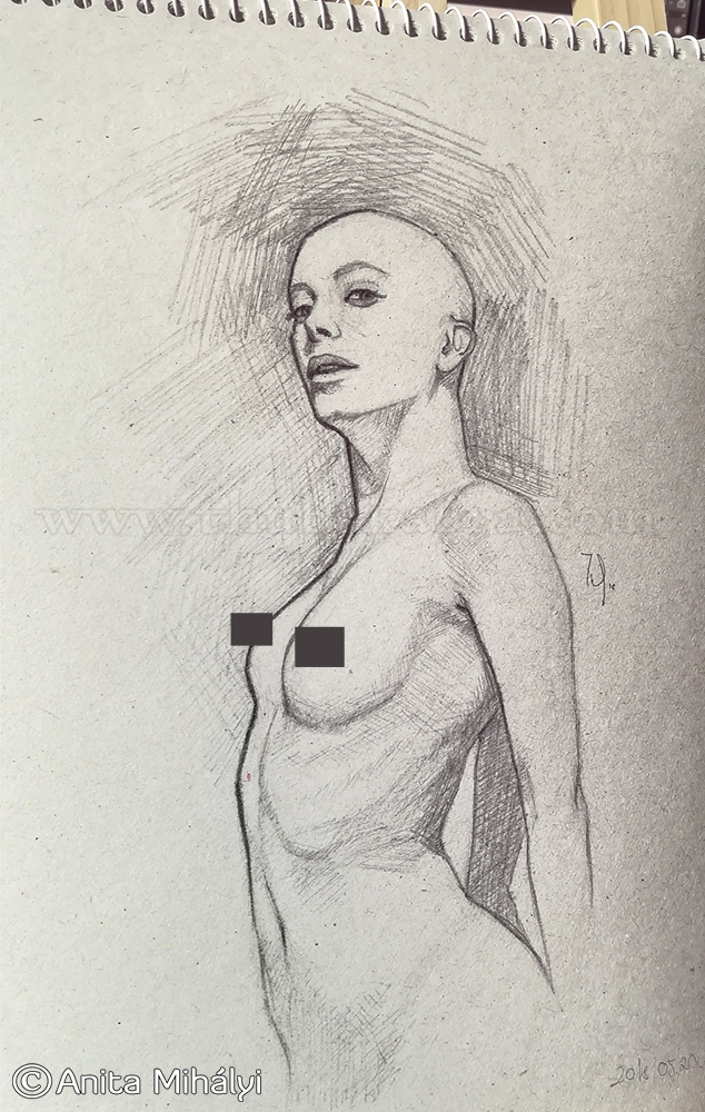 Naked Woman Daily Sketch